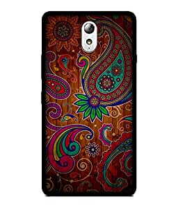 Chnno 2d pattern Printed Back Cover For Lenovo Vibe P1M No- 1354