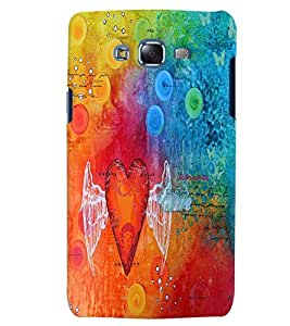 Citydreamz Colorful Angel Heart/Love Hard Polycarbonate Designer Back Case Cover For Samsung Galaxy A7