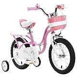Bicyclehx 85-120CM Kinder Fahrrad Kind Fahrrad Junge Mädchen Pedal Fahrrad Kindheit Individuelle Fahrrad mit Hilfsräder (Größe : 14 inch)