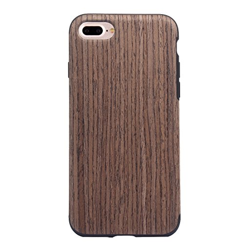 Hülle für iPhone 7 plus , Schutzhülle Für iPhone 7 Plus Teak Holz Korn Paste Haut Soft TPU Schutzhülle ,hülle für iPhone 7 plus , case for iphone 7 plus ( SKU : IP7P8000E ) IP7P8000E