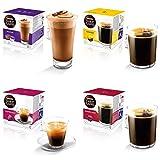 Nescafe Dolce Gusto Lot de 4packs de capsules de café noir de variétés...