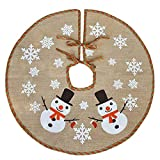 Awtlife 122 cm Burlap gonna albero di Natale per Natale Decorazioni festive Holiday, cute Snowman vintage Christmas Decor