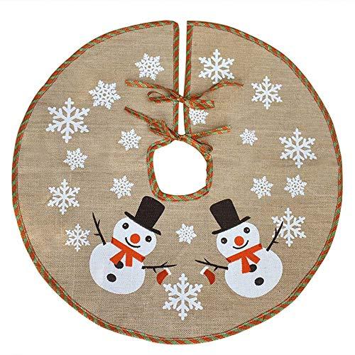 Awtlife Falda árbol Navidad 122 cm arpillera decoración