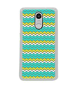 PrintVisa Zigzag Chevron High Gloss Designer Back Case Cover for Redmi Note 4 New