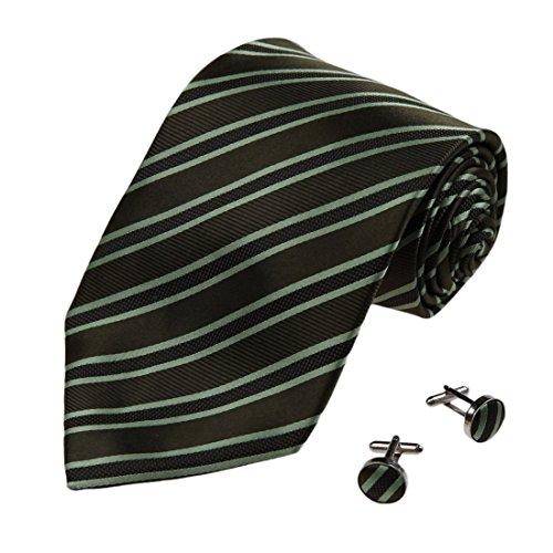A1187 Brown Olive Drab Stripes tessuto Idea