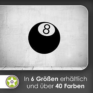 Billiardkugel Wandtattoo in 6 Größen - Wandaufkleber Wall Sticker