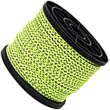 4mm 50m/16.4ft Glow in the Dark Luminous Reflective Guyline Tent Rope Guy Line Camping Cord Paracord, Green