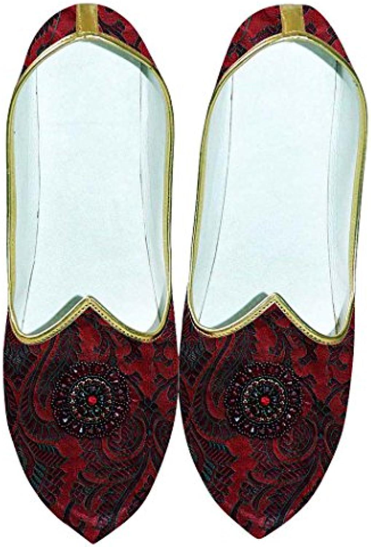 INMONARCH Granate Hombres Boda Zapatos Bordado MJ0701