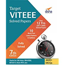 Target VITEEE - Past 12 Years (2017-2006) Solved Papers + 10 Mock Tests