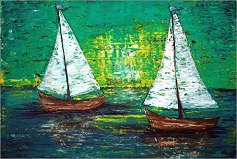 Acrylglasbild 60 x 40 cm: Sail Away With Me von Laura Barbosa