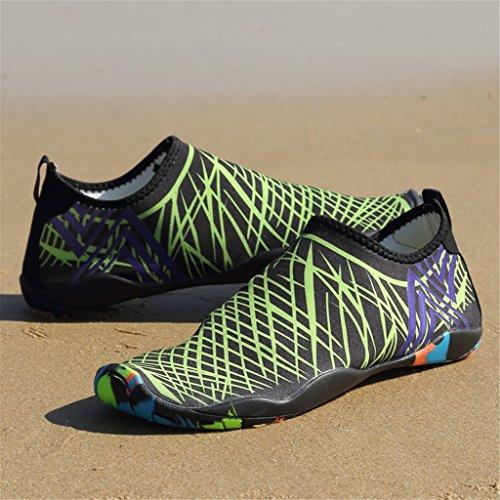 SAGUARO® Unisex Scarpe da Acqua Spiaggia Scoglio Nuotare Rapida Asciugatura Scarpette da Surf Yoga Estate Donna Uomo Verde