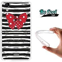 Becool® Fun - Funda Gel Flexible para Wiko Rainbow Up, Carcasa TPU fabricada con la mejor Silicona, protege y se adapta a la perfección a tu Smartphone y con nuestro exclusivo diseño. con camiseta marinera y pajarita