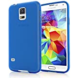 NALIA Handyhülle für Samsung Galaxy S5 Mini, Hülle Ultra-Slim Silikon Case, Dünne Crystal Schutzhülle, Etui Handy-Tasche Back-Cover Bumper, TPU Gummihülle für Samsung S5 Mini Phone - Blau