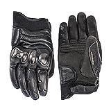 Dainese settantadue ergo72 guantes de moto de cuero, color negro