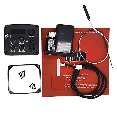 WOVELOT Pickup per Chitarra Acustica EQ Accessori per Chitarra B-Band T55 Pickup Accordatore Elettronico Accessori per Chitarra da Tavolo
