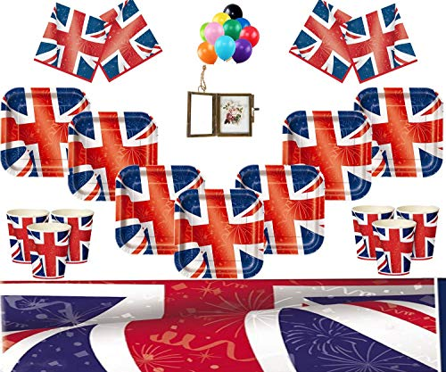 k Partei liefert Kinder Geburtstag Party Geschirr Kit für 16 Gäste Royal Party Dekoration - kostenlose Foto-Rahmen & Balloons ()