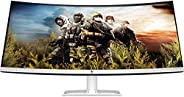 HP 34-Inch Curved Ultra-Thin Bezel Less Qhd IPS Monitor-AMD Free Sync, 300 Nits with Audio in, Headphone, USB,