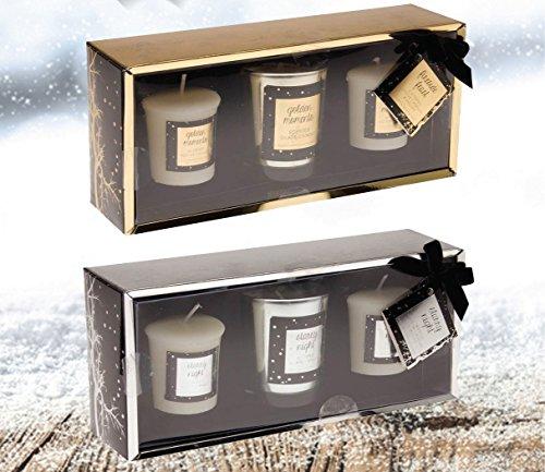 Black Friday Deal - Lot de 3 vives aromatisé Cire parfumée Candles-two Flavours-candied Apple et cassis et ambre et bois de cèdre