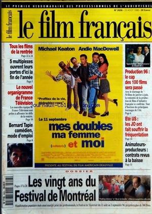 FILM FRANCAIS (LE) [No 2626] du 23/08/1996