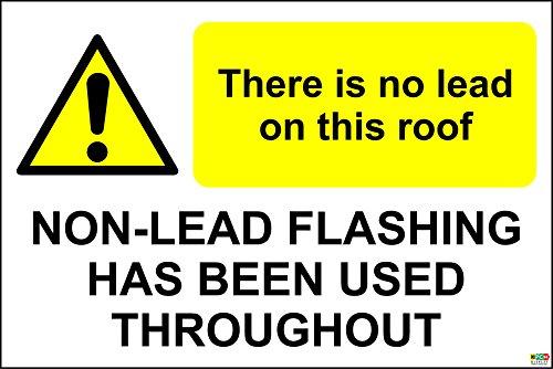 non-vi-e-piombo-su-questo-tetto-senza-piombo-lampeggiante-cartello-in-vinile-autoadesivo-300-x-200-m