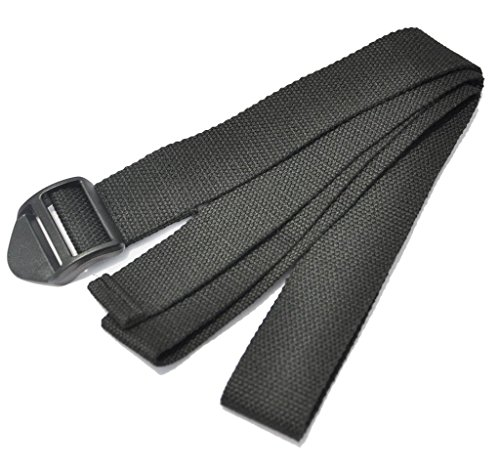 Ouneed® Yoga Stretch Strap Belt Waist Leg Fitness 183CM Adjustable Noir