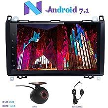 "Android 7.1 Autoradio, Hi-azul 1 Din Radio de Coche 9"" Navegación GPS De Coche RAM 2G Auto Radio Estereo con Pantalla Multitáctil para Mercedes-Benz A-W169, B-W245, Viano, Sprinter, Vito (con DVR)"