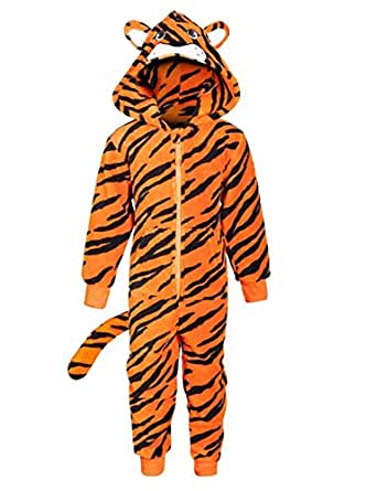 Hoolaroo costume gar on fille tigre polaire chaud - Tigre polaire ...