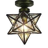 MM Sterne transparent Lampenschirme Deckenleuchten Anhänger Licht Loft Decke Anhänger Licht für Korridor Gang Tür Bar Schlafzimmer Restaurant Wohnzimmer