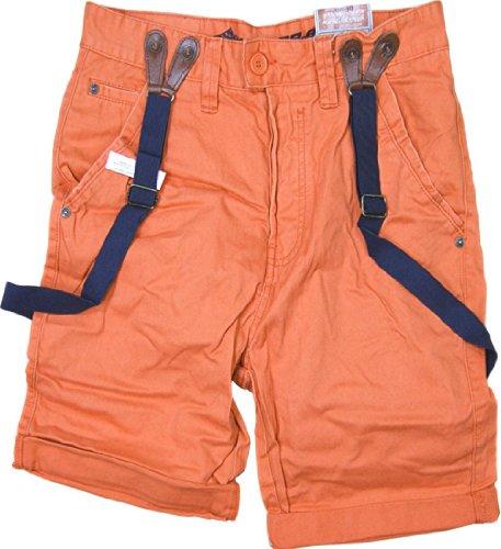 Sublevel et 98–86 chino short bermuda pour homme avec bretelles amovibles orange foncé
