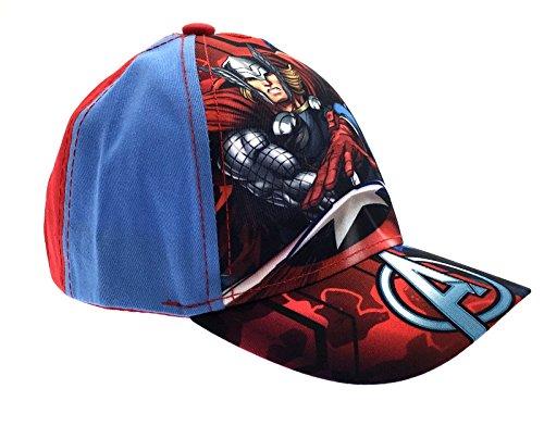 Lora Dora Baseballcap für Kinder mit Cartoonfiguren, anpassbar, Schirmmütze für Jungen und Mädchen Gr. 54, Avengers - Thor/Captain America