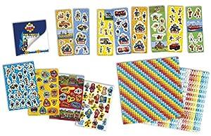 Totum 340008 - Kit Creativo de Bomberos, Caja de 12 r+2 s+Libro de Pegatinas más de 1000 con Cuaderno