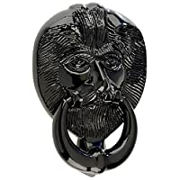 Mila 590207 ProLinea Lion Head Door Knocker, Black, 4""