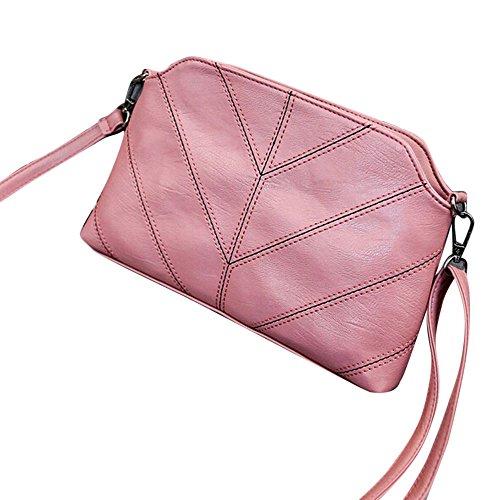 Longra Donna Ricami moda Borsa a tracolla Discussione Rosa