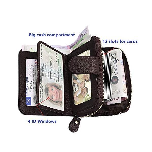 SPECOOL Porta Carte di Credito,Genuino del Titolare della Carta di Credito in Pelle e blocco RFID, Tasca Banconote… 4 spesavip