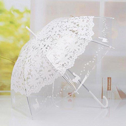 bpblgf Hakengriff Hochzeit Besondere Anlässe Maskerade Strand Regenschirm Regenschirme, A (Spitze Sonnenschirm Rüschen)