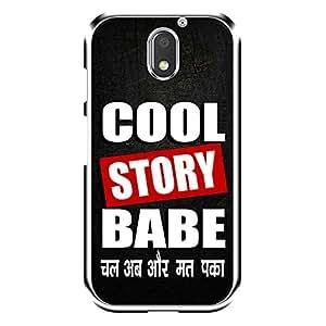 "Bhishoom Designer Printed 2D Transparent Hard Back Case Cover for ""Moto E3"" - Premium Quality Ultra Slim & Tough Protective Mobile Phone Case & Cover"