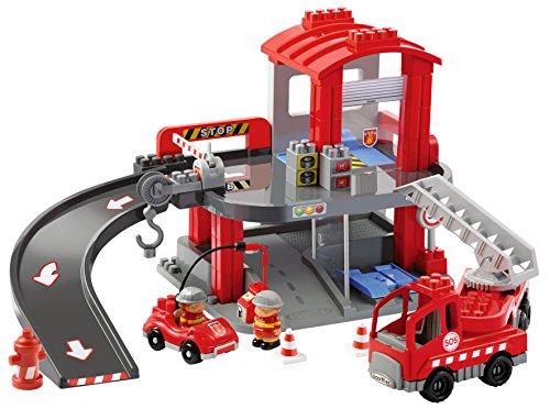 Ecoiffier  New Firemen Headquarters (54 X 31 X 32.5 cm), Multi Color