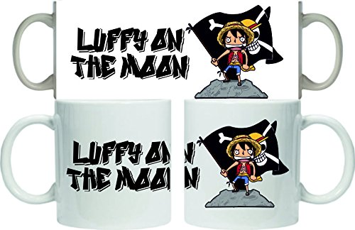 Taza One Piece Luffy on the moon