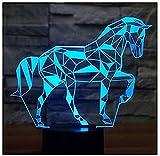 WJPDELP-YEDE 3D LED Nachtlicht Puzzle Puzzle mit 7 Lichtfarben für Heimtextilien Lampe Erstaunliche optische Visualisierung Illusion