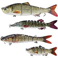 4x Pesca Más teiliger señuelo de pesca con 2anzuelos triples cebo para lucio, perca Trucha