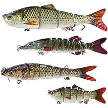 Pesca Más teiliger señuelo de pesca con 2anzuelos triples cebo para lucio, perca Trucha, 4 unidades