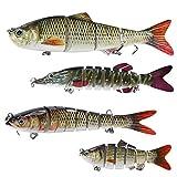 4x Pêche Plus teiliger Wobbler Jerkbait avec 2crochets Drilling Leurre pour Hecht barsch truite