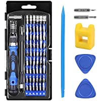 Crazepony-UK Precisión Destornilladores, 62 en 1 Precision Screwdriver Set Magnetic Driver Kit with Magnetizer,Professional Repair Tool Kit for Electronics Devices / Cell Phone/ Tablet/ PC/ Watches and More ( 57 Bits + 2 Triangle Pry Oprner + 1 Pry Opener + 1 Screwdriver Handle + 1 Flexible