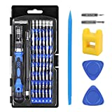 Crazepony-UK Schraubendreher Set, 62 in 1 Precision Screwdriver Set Magnetic Driver Kit with Magnetizer,Professional Repair Tool Kit for Electronics Devices / Cell Phone/ Tablet/ PC/ Watches and More ( 57 Bits + 2 Triangle Pry Oprner + 1 Pry Opener + 1 Screwdriver Handle + 1 Flexible