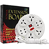 AIO Extension Board 6 Amp 8 Plug Point With Master Switch, LED Indicator, Extension Cord, Power Strip, Extension Board (4 Meter) - Multicolour (Multicolour)