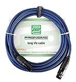 Pronomic Stage DMX3-10 câble DMX 10 m, bleu avec contacts plaqués d\'or
