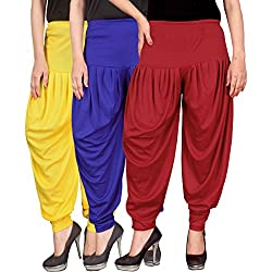 Culture the Dignity Womens Lycra Dhoti CTD_00YB1R_1_YELLOW_BLUE_RED_FREESIZE