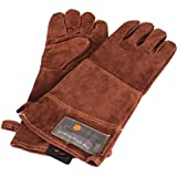 Outset Leather Bbq Grill Gloves 1 Pair Heat/Fire Protection Mitt Oven Glove New