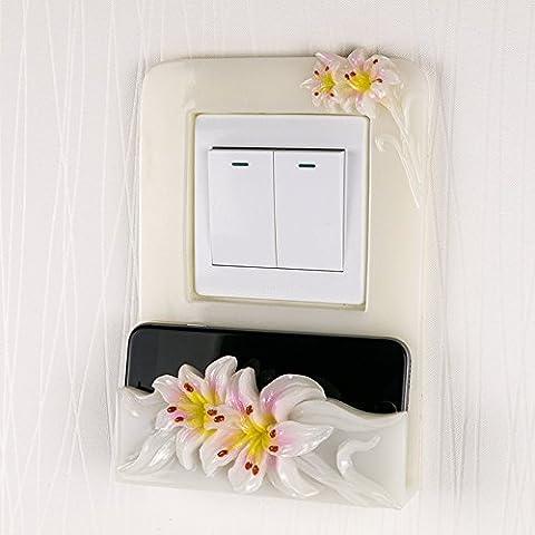 Zoccolo continentale wall post sala decorata interruttori creative manicotto home phone charger resina base