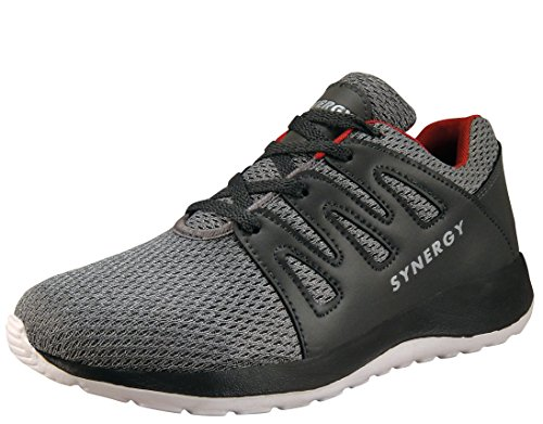Action Shoes Action Synergy Men's Sports Running Shoes 7228 Grey/Red